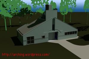 Rendering schematico della casa