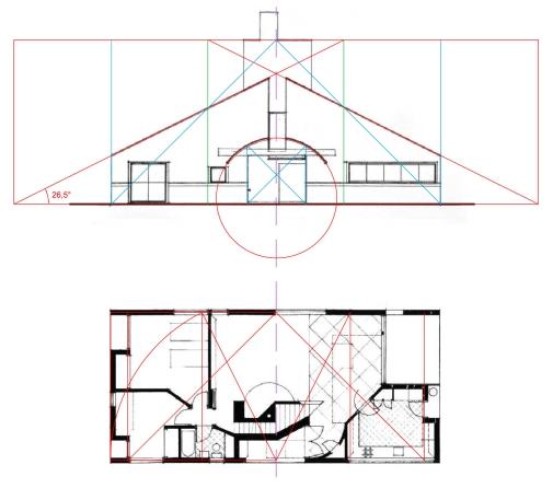 Schemi sottesi all'impianto formale della casa